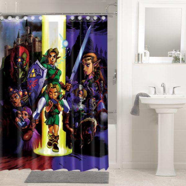 The Legend Of Zelda Ocarina Time 1745 Shower Curtain Waterproof