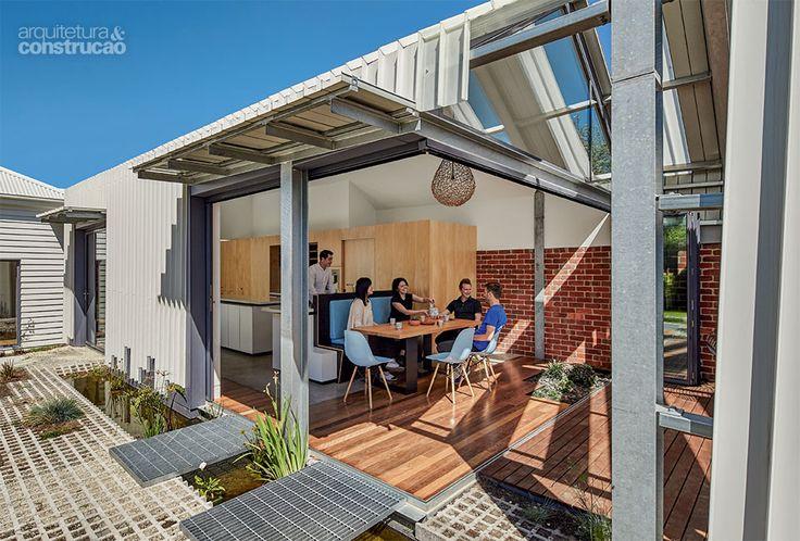 Revista Arquitetura e Construção - Dentro e fora: áreas interna e externa se misturam em casa australiana