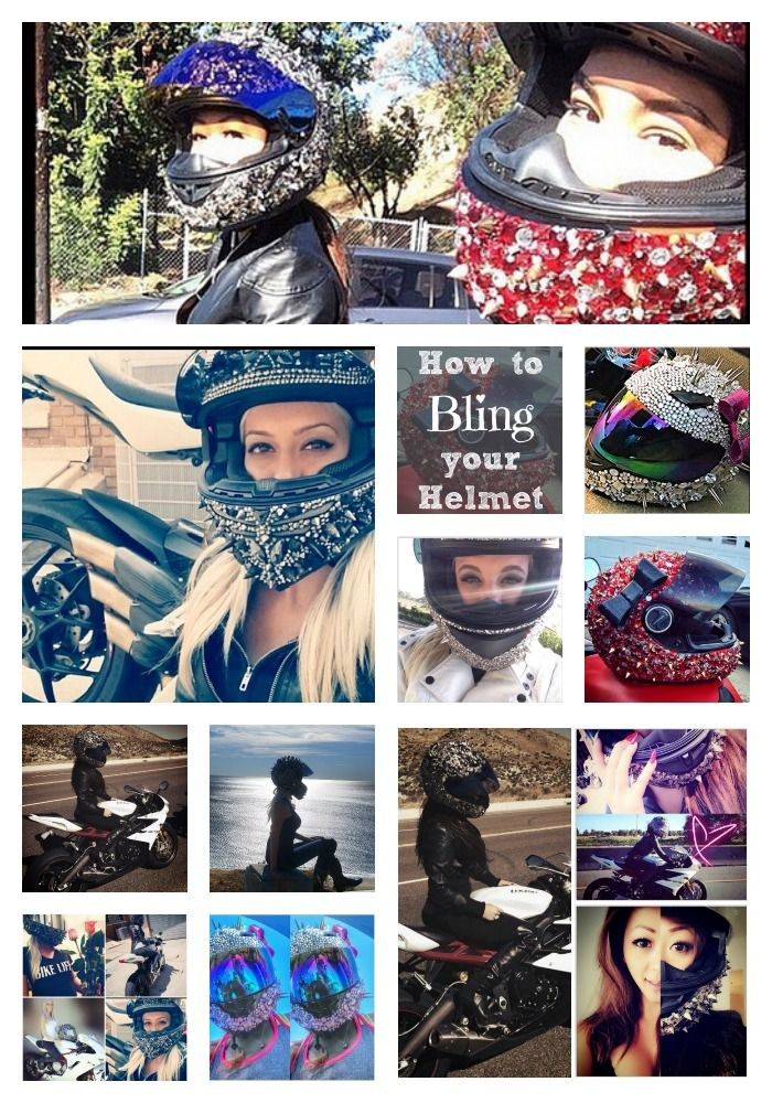 Motorcycle Helmet Accessories - Crystals