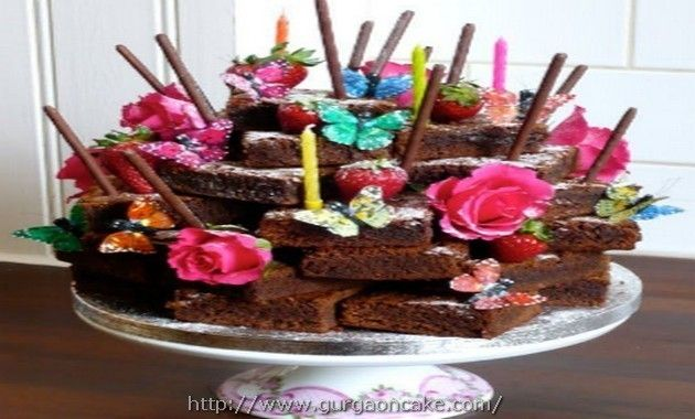 chocolate brownie birthday cake ideas Picture