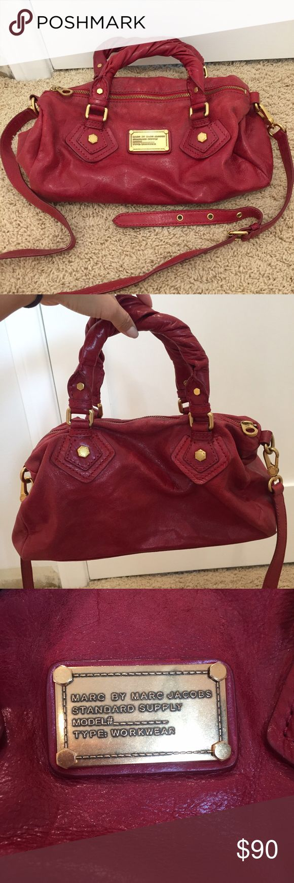 Marc by Marc Jacobs purse Red Marc by Marc Jacobs purse. Can be worn on shoulder or crossbody or as handbag with short handles Marc by Marc Jacobs Bags Crossbody Bags