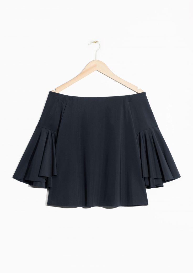 & Other Stories image 1 of Off Shoulder Top in Black