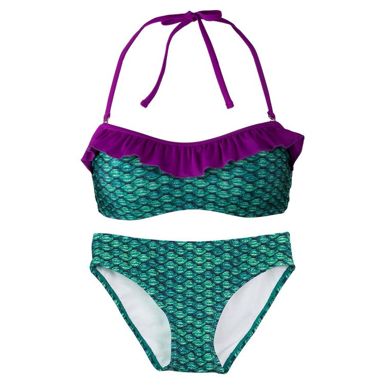Brynn's Celtic Green Bandeau Bikini Set is the perfect outfit and essential for this year's spring break destinations. It' time to cross things off your bucket list! Cross off becoming a mermaid (for you or your kids) by adding Brynn's Celtic green swimmable mermaid tail from Fin Fun.