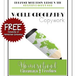 FREE World Geography Copywork Printable ebook