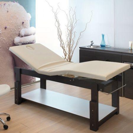 Lotus Well lettino professionale fisso per estetista/massaggio, di forma rettangolare con massimo comfort grazie alle posizioni regolabili di schiena e gambe. € 1.200 #lettini_massaggio #centri_benessere #spa #linfodrenaggio