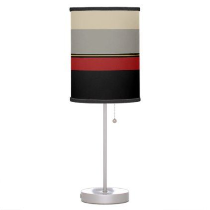 Black red gray tan lamp - #customizable create your own personalize diy