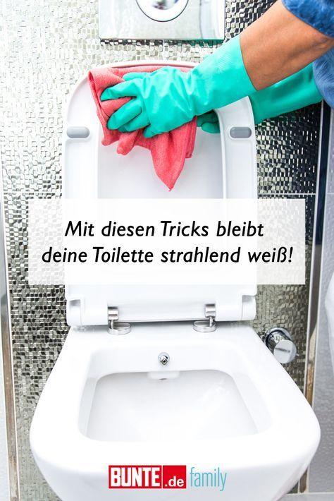 Putz-Hacks: Mit diesen Tricks bleibt deine Toilette strahlend weiß