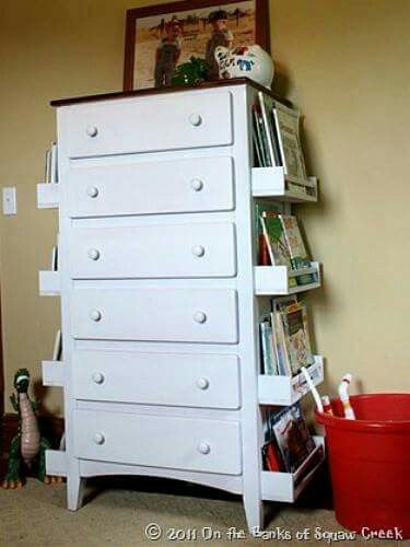 Cute update on an old chest of drawers with added storage
