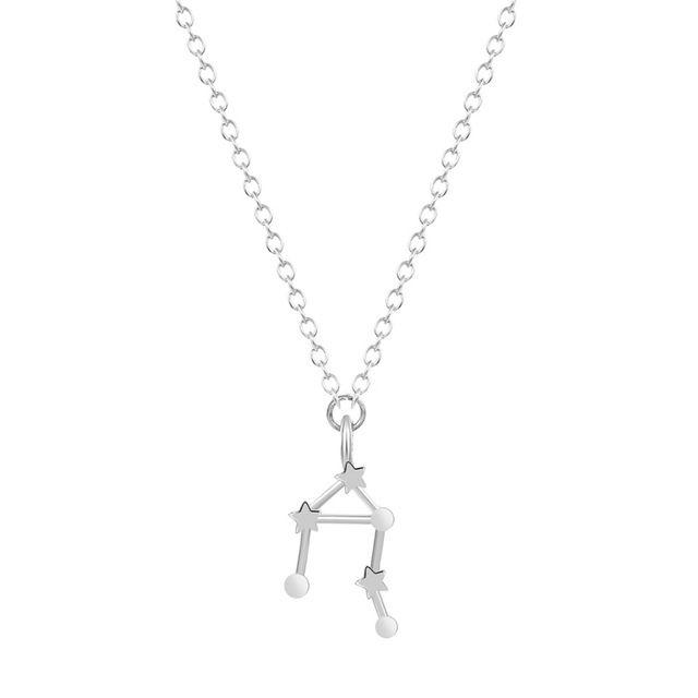 1 шт. женщины ожерелье весы знак зодиака астрология ожерелье созвездие знак зодиака сентябрь октябрь для девочки подарок