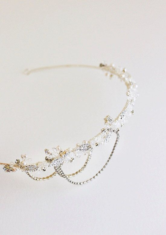 NADIA Crystal Bridal Headpiece Wedding Tiara For more wedding inspiration please visit www.lolabeeandme.com