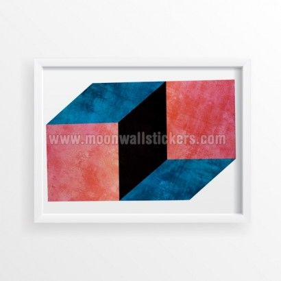 Optical Illusion Effect Poster - Moon Wall Stickers