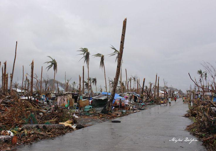 Aftermath of Typhoon Yolanda in Tolosa, Leyte, Philippines.