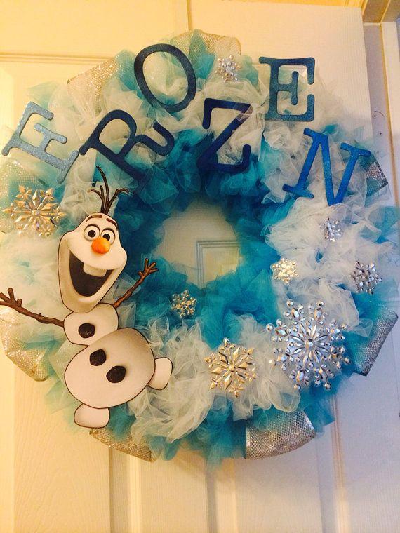 Disney frozen inspired wreath by GlitterlyObsessed on Etsy, $70.00