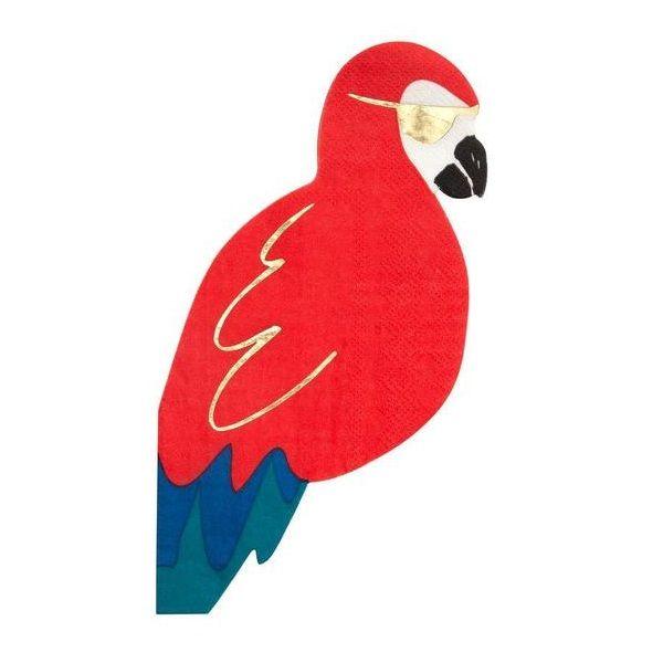 Meri Meri Piraten Papagei Servietten 16 Stuck Mm 188251