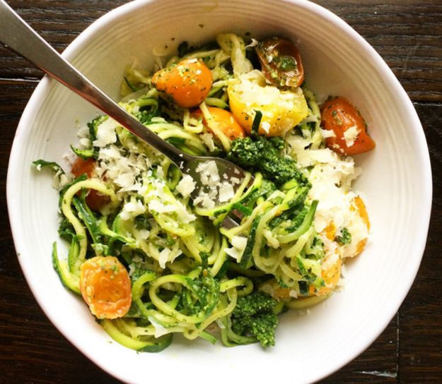 """Turn summer vegetables into """"pasta"""" with a spiralizer. 