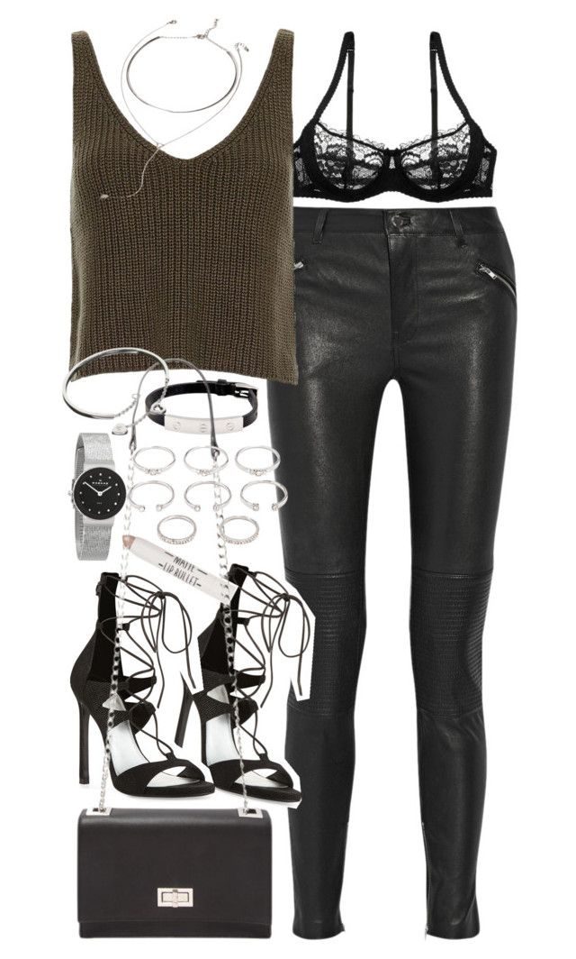 Outfit For A Party With Leather Trousers   Leather Trousers Skagen And Stuart Weitzman