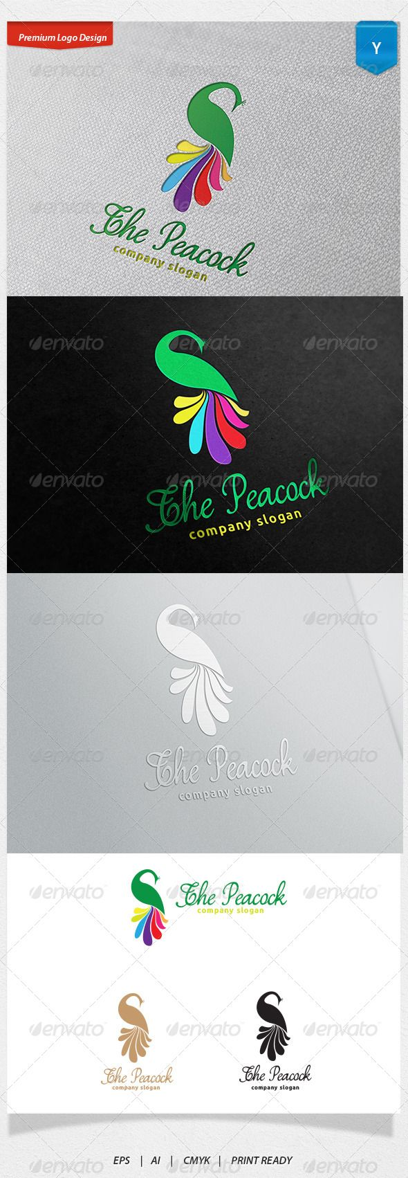 The Peacock Logo — Vector EPS #club #animal • Available here → https://graphicriver.net/item/the-peacock-logo/6591264?ref=pxcr