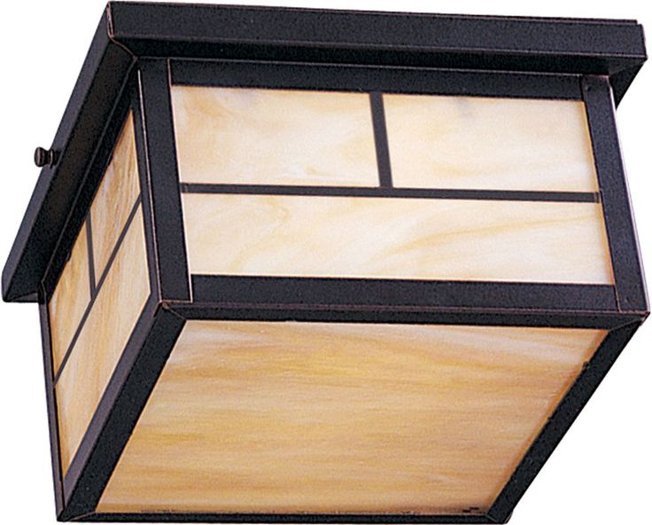 Maxim 4059 Coldwater 2-Bulb Flush Mount Outdoor Ceiling Fixture - Glass Shade In Burnished Outdoor Lighting Ceiling Fixtures Flush Mount