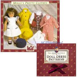 FREE - American Girls brand doll patterns.  You print them out.  Addy, Samantha, Felicity, Josefina, Kirsten and Molly.