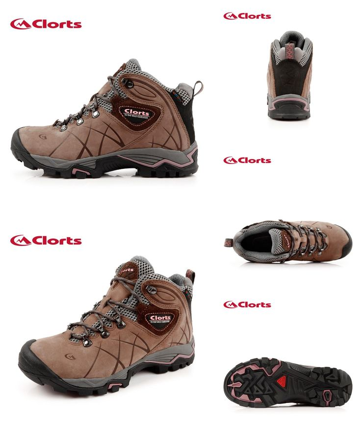 [Visit to Buy] Clorts 2016 Woman Hiking Boots Waterproof Non-slip Nubuck Leather Autumn Winter Hiking Shoes HKM-802B #Advertisement
