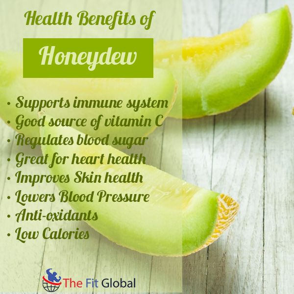 Health benefits of Honeydew #skincare #sugar #health #food #thefitglobal