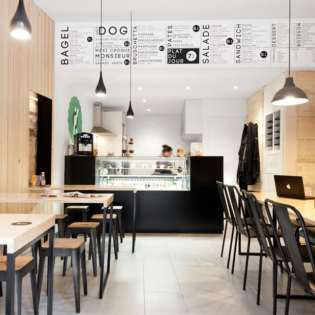 O'PETIT EN 'K a new restaurant in the heart of Bordeaux, France that combines graphic design, architecture and design.