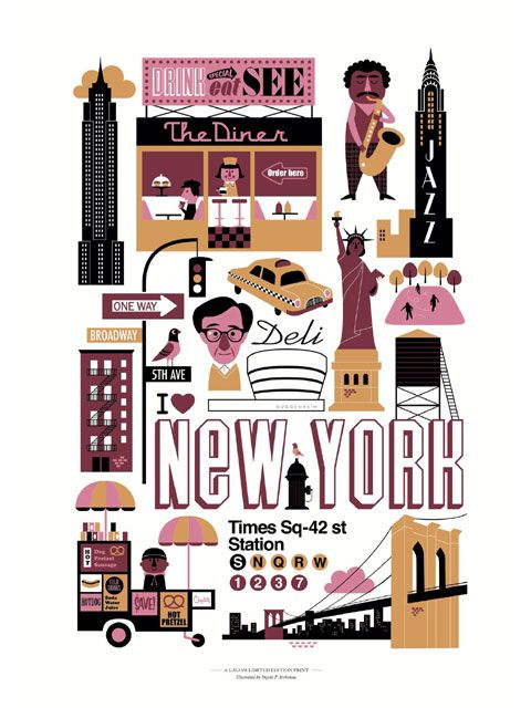 graphic NY poster