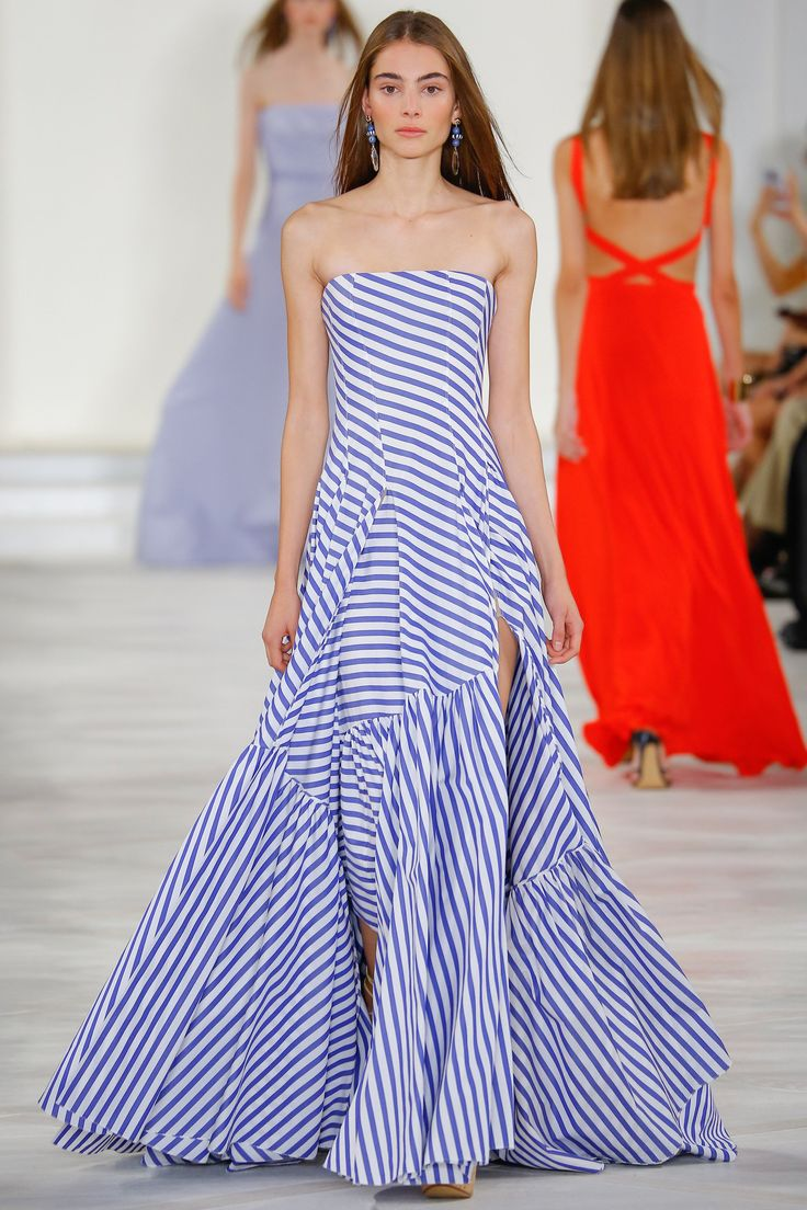 Ralph Lauren / Spring 2016 Trends / Horizontal or vertical, thick or thin, many-hued or monochromatic, stripes emerged from the fray of Spring prints as a clear victor on catwalks.