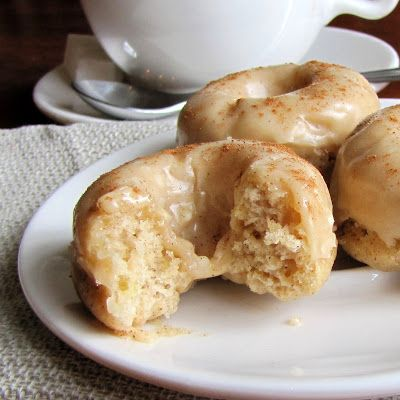 Baked Banana Donuts with Brown Butter Glaze. These are also good with 1/2 cup pumpkin if you're out of bananas.