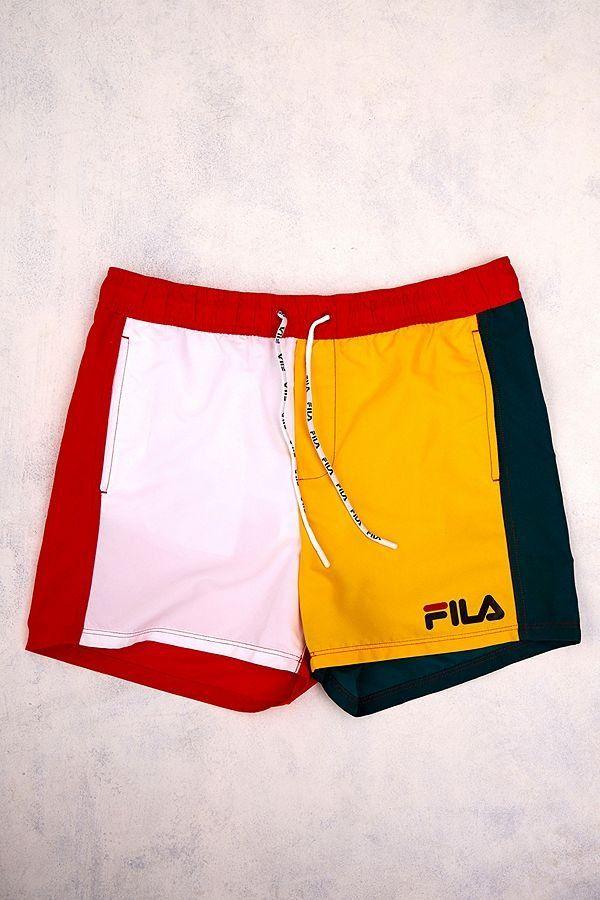 ec5809b56a FILA Colour Block Swim Shorts | Urban Outfitters | Men's | New #uoeurope  #urbanoutfitters #urbanoutfitterseu #uomens