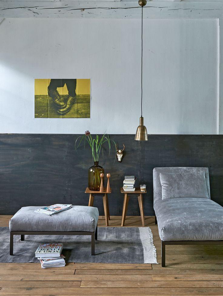 Living room with grey and copper furniture | Photographer Dennis Brandsma, Sjoerd Eickmans | Styling Fietje Bruijn, Kim van Rossenberg | vtwonen catalog autumn 2015 | #vtwonencollectie