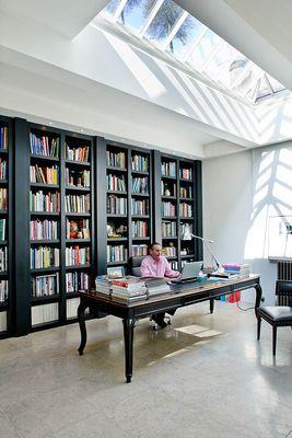 Upper Wimpole Street. Library. 044935.jpg.  Roof lantern.