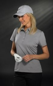 Promotional Products Ideas That Work: LADIES' SP TECH MINI STRIPE POLO. Get yours at www.luscangroup.com
