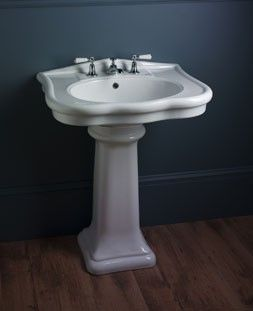 Elysee 70cm 3-taphole basin and pedestal