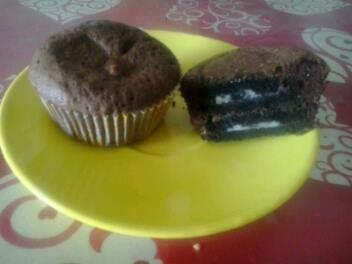 Κεκάκια με oreo μπισκότα και καραμέλα