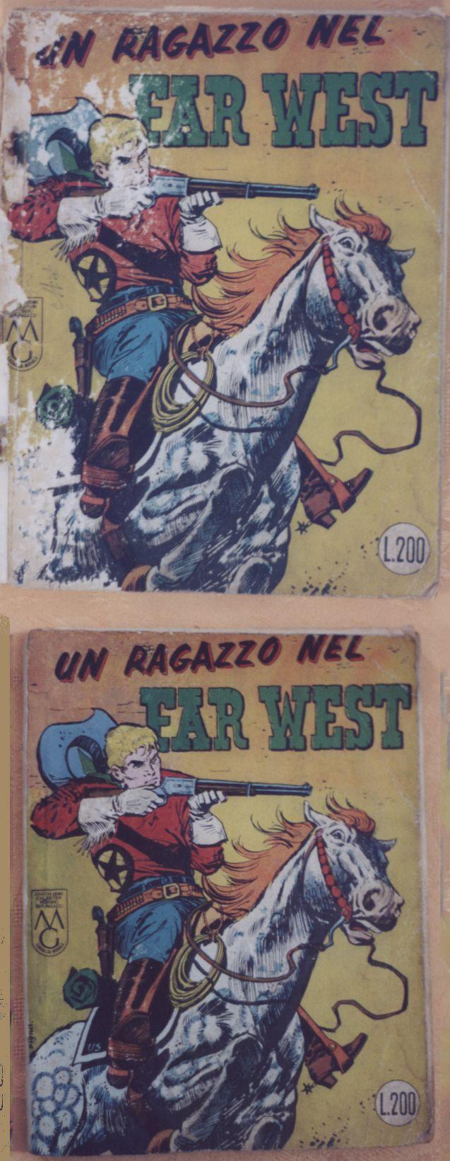 RESTAURO ZENITH GIGANTE N° 23 UN RAGAZZO NEL FAR WEST n° 1 www.atelierdangelone.it