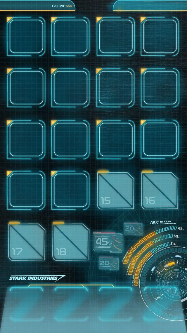 JARVIS MARK 3 - IPHONE 5 HOMESCREEN WALLPAPER by hyugewb.deviantart.com on @DeviantArt