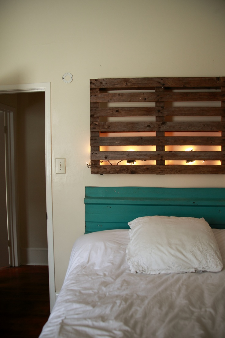 17 best images about pallet craze on pinterest shipping pallets pallet ideas and pallet benches - Backlit headboard ...