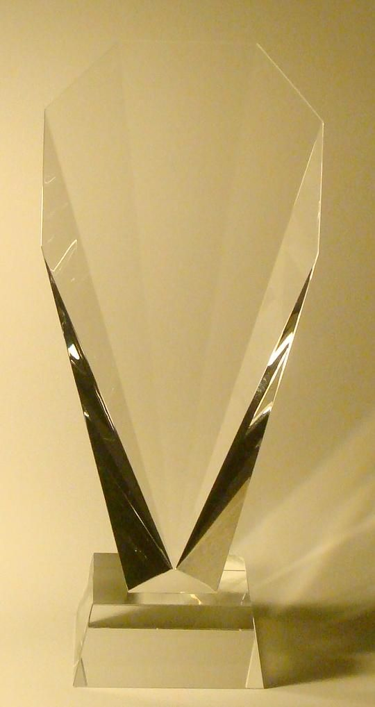 "The sporty fan award.. 11.5"" tall"