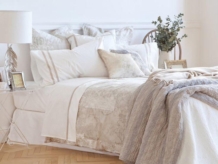 17 mejores ideas sobre ropa de cama de edred n blanco en - Orientacion cama dormir bien ...