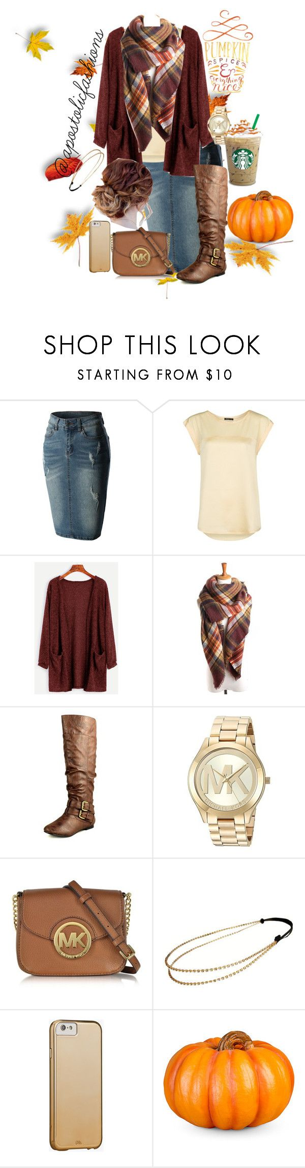 """Apostolic Fashions #1794"" by apostolicfashions ❤ liked on Polyvore featuring MANGO, Nature Breeze, Michael Kors, Chicnova Fashion, Case-Mate and Improvements"