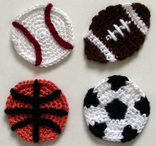 Free Crochet Pattern For Softball Headband : Crochet Spot soccer basket ball baseball football ...