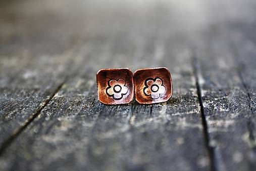 Copper earrings by RucneRobene on Etsy