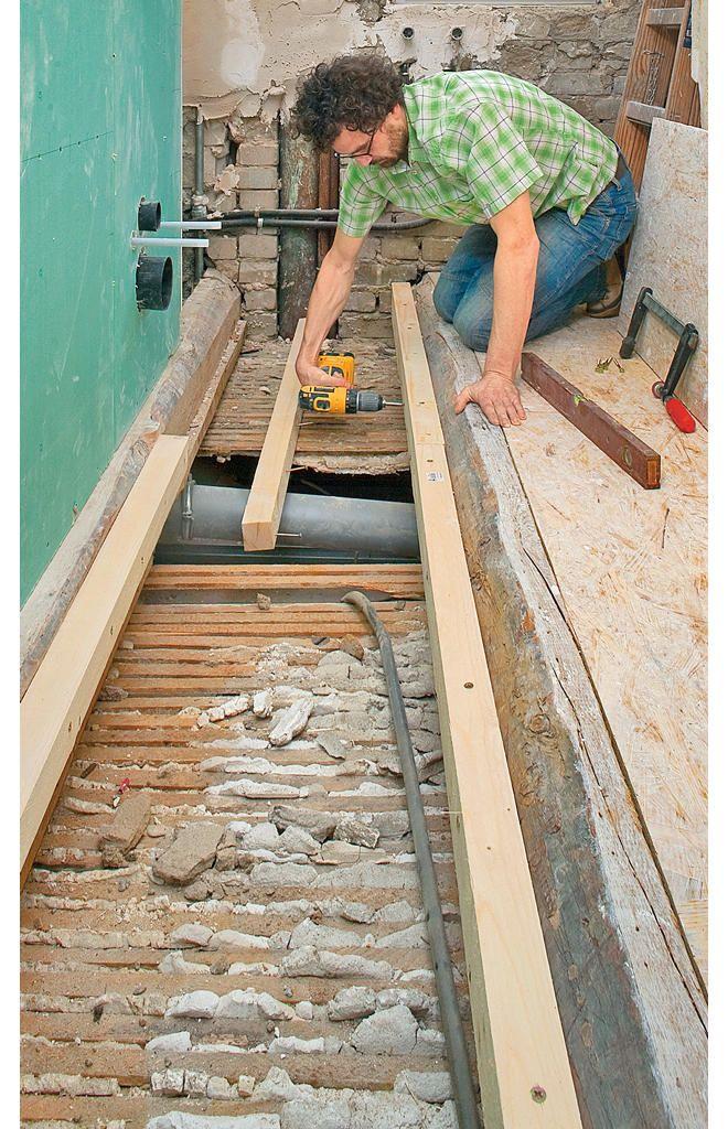 Holzbalkendecke Ausgleichen Selbst De Holzbalkendecke Boden Ausgleichen Sanierung