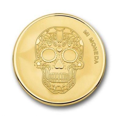 Mi Moneda  Moneda Skull Gold MON-SKU-02-XS
