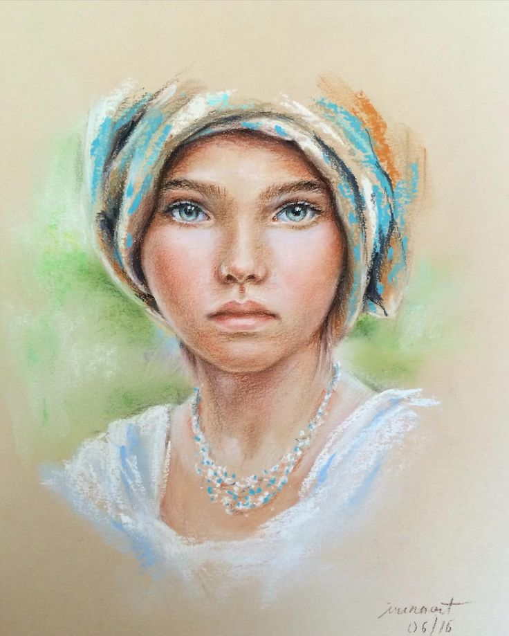 """""""Girl"""". Pastel chalks & pencils on paper • Inspired by an amazing photo by @yanachuvalova • In frames of PastelPro course with Elena Tatkina"""