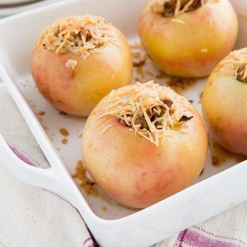 sausage stuffed apples. mmmmm