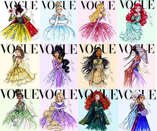 Disney Vogue...idea for fashion--design your favorite fictional character as a cover model?!