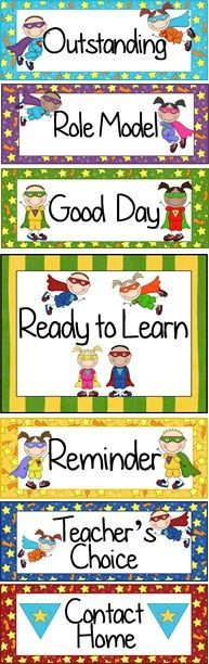 Super Hero themed Behavior Clip Chart ~ Classroom Management Tool
