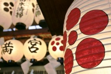 japanese interior decorating - decorated paper lanterns